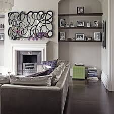 Modern Chic Grey And Purple Living Room