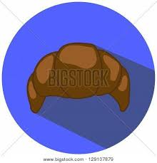 Chocolate Croissant Vector Illustration In Flat Style Hand Drawn Bakery Pastry Picture