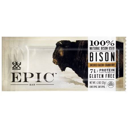 Epic Nutrition Bar - Bison & Bacon Cranberry