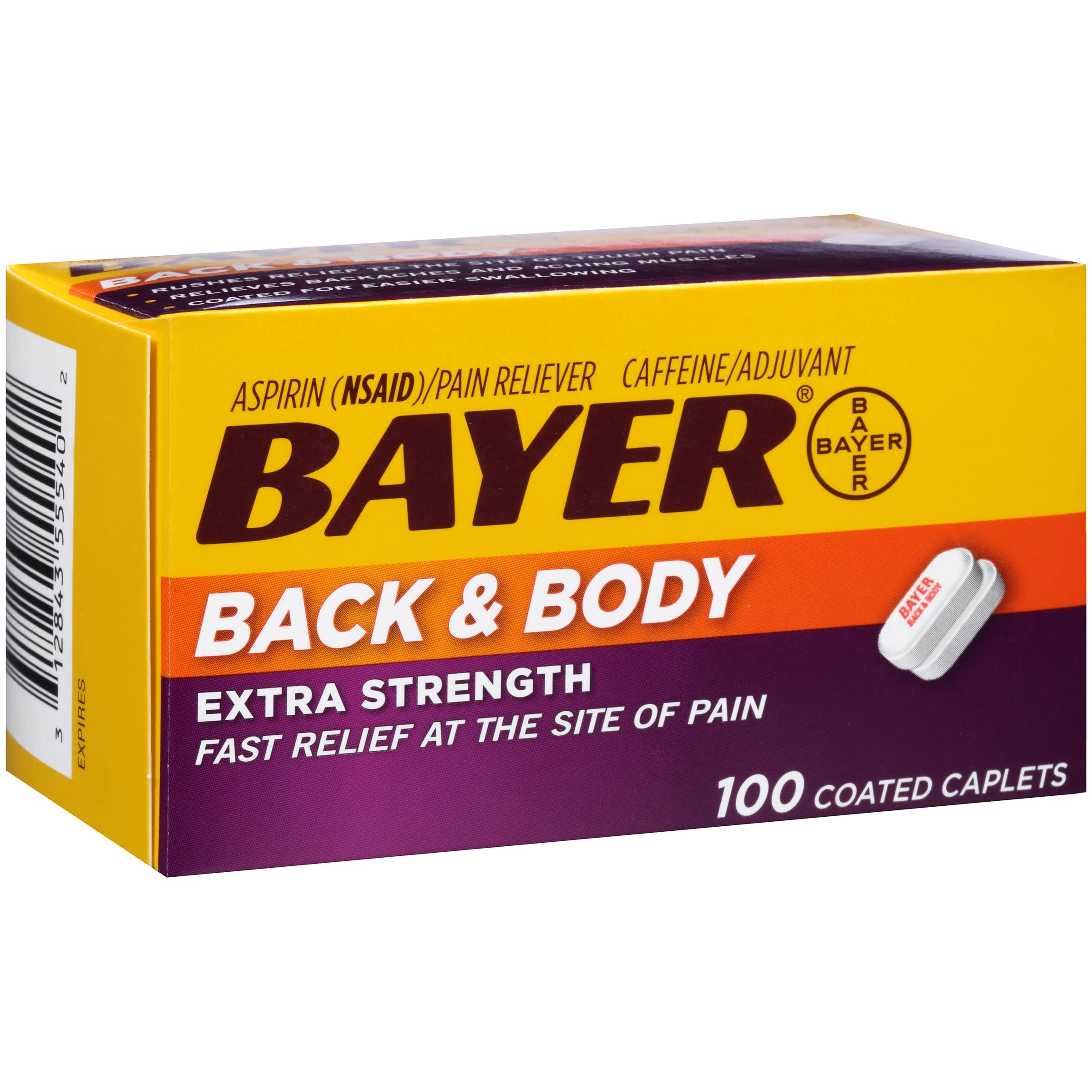 Bayer Back & Body Extra Strength Coated Caplets - x100