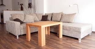couchtisch massivholz sofa modern aus eiche buche kiefer