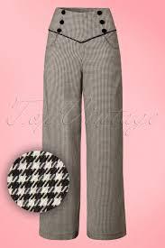 1950s style pants pinup capri high waist jeans