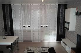 details zu wohnzimmer grau schwarz weiss 9 tlg gardinen set nr 104