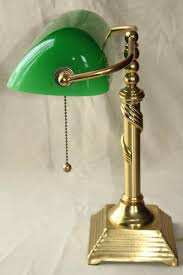 Bankers Lamp Green Glass Shade by Vintage Solid Brass Desk Light Banker U0027s Lamp W Emerald Green