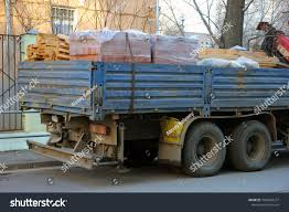 100 Flatbed Truck Bodies Back Side Body Loaded Stock Photo Edit Now