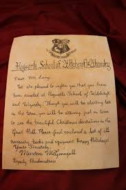 Hogwarts Letter Ornament Harry Potter Christmas Harry Potter