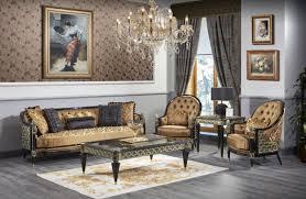 casa padrino luxus barock wohnzimmer set gold schwarz 1 sofa 2 sessel 1 couchtisch 1 beistelltisch prunkvolle barock möbel luxus