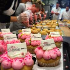 The Bakery Collaborated With BC Baking Club And Boston Bakes To Produce Beautifiul Cupcakes Support Fight End Breast Cancer