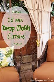 Patio Curtains Outdoor Idea by Best 25 Drop Cloth Curtains Ideas On Pinterest Drop Cloths
