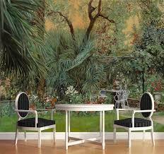 3d foto tapete kunden wohnzimmer wandbild europäischen amerikanischen regenwald dschungel anlage malerei hintergrund tapete für wand 3d