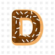 Letter D Donut Or Sweet Font Vector Image Of Fonts Type
