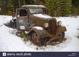 An Old, Rusty 1932 Chevy 1 1/2 Ton Truck, Near Noxon, Montana Stock ...