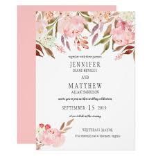 Modern Pink Peonies Wildflowers Greenery Wedding