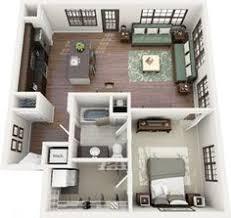 appartement avec une chambre 50 plans en 3d d appartement avec 1 chambres 3d plans et