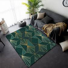 schwarz gold marmor moderne luxus teppich wohnzimmer grün geometrische eingang teppich vintage boden teppich für schlafzimmer