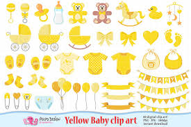 Yellow Baby Clipart Scrapbook Yellow Baby clip art Boy Girl