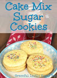Cake Mix Sugar Cookies Graceful Little Honey Bee