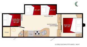 5th Wheel Campers With Bunk Beds by Truck U0026 31 U0027 5th Wheel Bunk Beds Rv Rental Canada