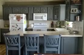 Grey Cabinet Painting Ideas With White Countertop For French Country Kitchen