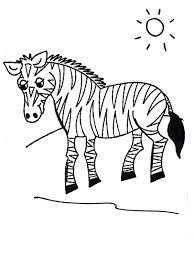 Zebra In Grasslands Coloring Page