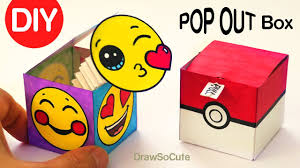 how to make a pop out surprise box toy jack in the box youtube