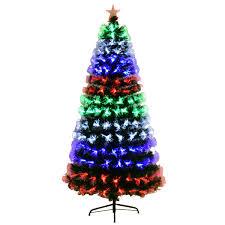 Christmas Tree Outstanding Pre Lit Fibre Opticistmas Tree Photo