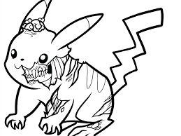 Pokemon Pikachu Coloring Pages Great Graphic Unknown General Cute