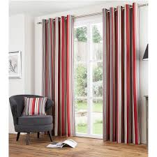 Vertical Striped Window Curtains by Vertical Stripe Cotton Lined Eyelet Curtains Ready Made With
