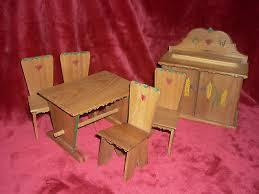 1 satz tisch stuhl puppe puppenhaus esszimmer küche dekor