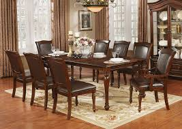 22 Furniture Gallery Sylvana Brown Cherry Dining Table W/18