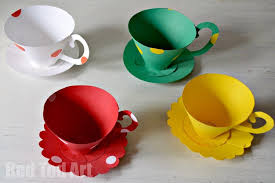 Paper Teacup Printable Tea Party Games