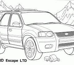 Pictures Of Cars To Color And Print Car Coloring Pages Kids