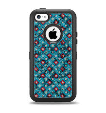The Worn Dark Blue Checkered Starry Pattern Apple iPhone 5c