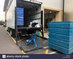 100 Truck Ramp Bulk Laundry Delivery Service Large Carts On Ramp Of Truck For