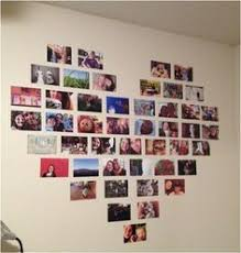 Heart Picture Collage So Cute And Easy To Do For Your Room