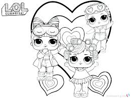 Doll Coloring Pages Dolls Printable Barbie Paper Lol Surprise