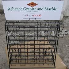 wire waterfall tile display racks table top presentation decorators