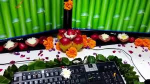 Cubicle Decoration Themes In Office For Diwali by Office Desk Decoration By Using Flowers Youtube