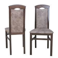 braune esszimmer stühle comta mit microfaser vintage look 2er set