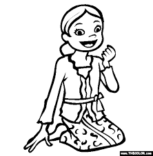 Indonesia Bali Online Coloring Page