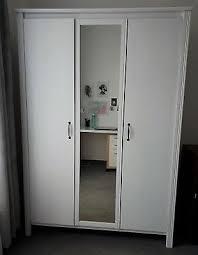kleiderschrank mit spiegel ikea hemnes weiß 190 x 130