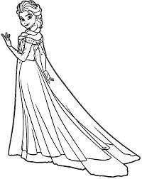 Queen Elsa Unique Coloring Pages