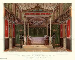 reich verzierte neo klassische schlafzimmer französisch frühes 19 jahrhundert stock vektor und mehr bilder 18 jahrhundert