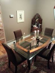 Macys Bradford Dining Room Table by Macy S Furniture Dining Set Glass Topwood Base Dining Table Amp 4