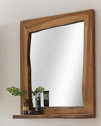 badezimmer spiegel akazie massiv holz kawola braun loft edge