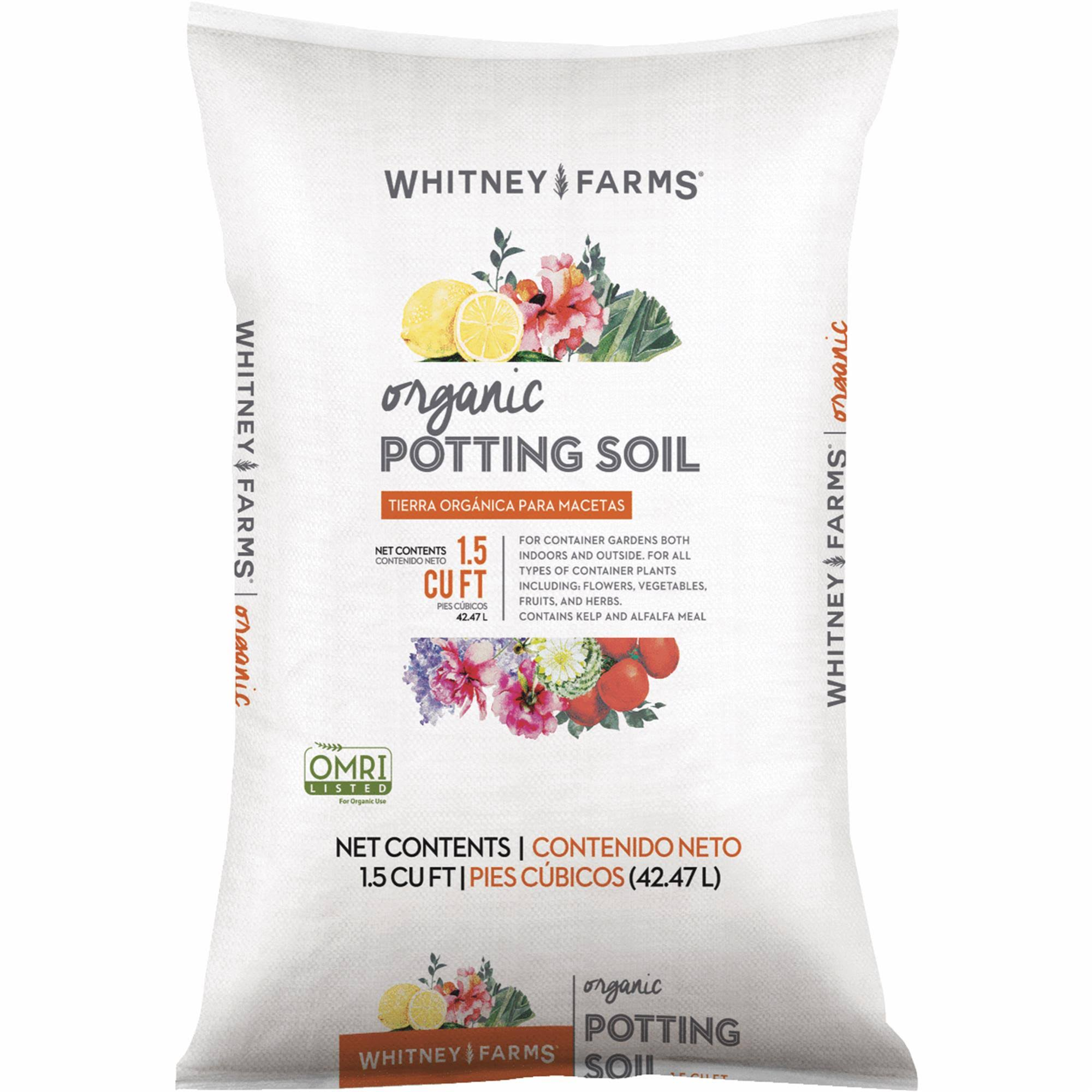 Whitney Farms Organic Potting Soil - 1.5 Cubic Feet