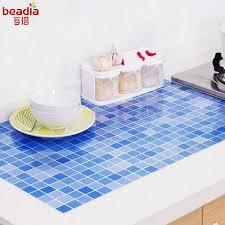 großhandel 1 stück mosaik anti öl paste hohe temperatur anti ölpaste küche selbstklebende folie wasserdichte badezimmer fliesen wandaufkleber