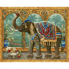 2018 Painted Elephant Canvas Art Traditional Oil Paintings By Numbers Hand DIY Digital