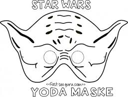 Printable Yoda Mask Template For Kids