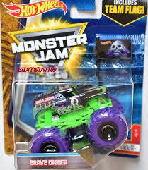 100 Hot Wheels Monster Jam Trucks List 2017 Includes Team Flag Grave Digger Color